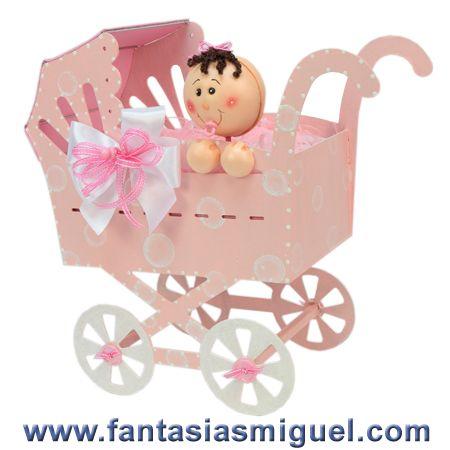 Carreola, Baby Shower Rosa/ Blanco
