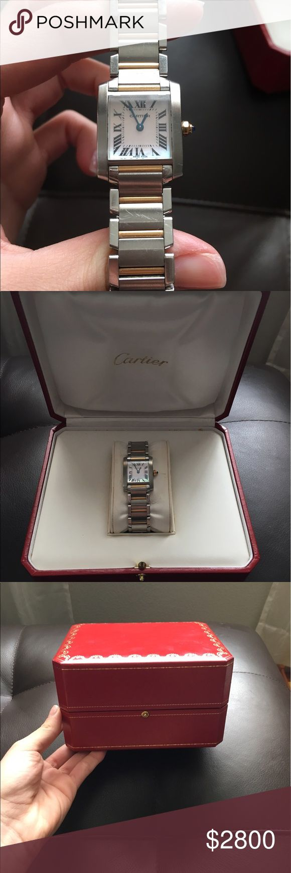 Cartier Tank Francaise watch Gold/Steele. Used, some scratches Cartier Jewelry