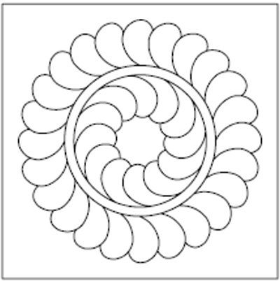 Small Feathered Wreath free quilting motifs on this site Mostly quilting Pinterest Free ...