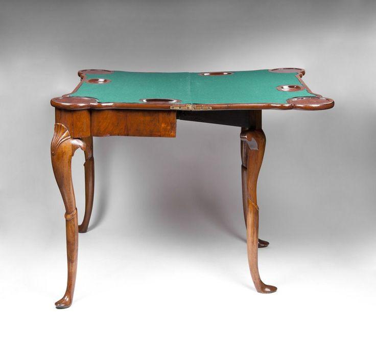 Early 19th C. Irish Georgian Gaming Card Table