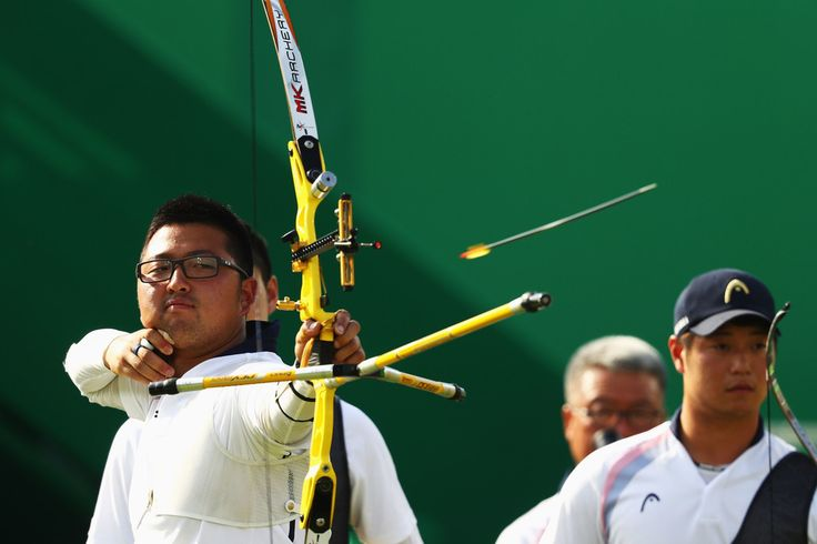 Day 1: Archery Men's Team - Woojin Kim of Korea
