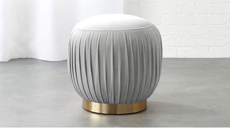 pleated ottoman-stool | CB2 This is so cute we can't stand it !
