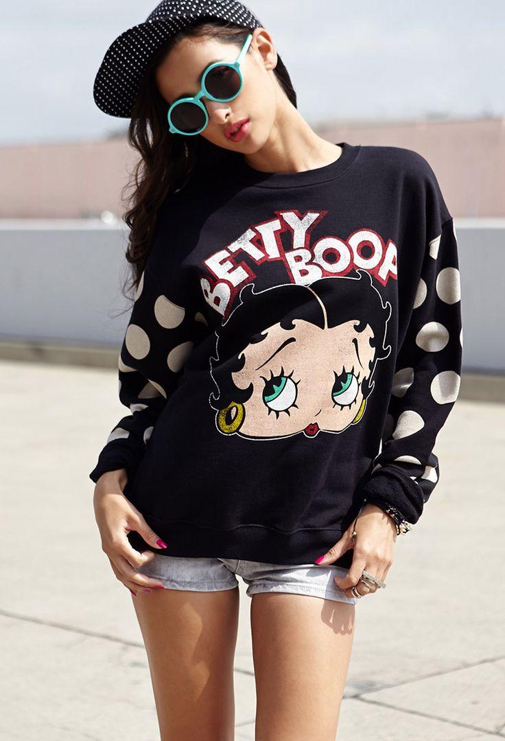 Betty Boop™ Sweatshirt | FOREVER21 Boop-boop-de-doop-oop! #BettyBoop #ForeverHoliday #WishPinWin