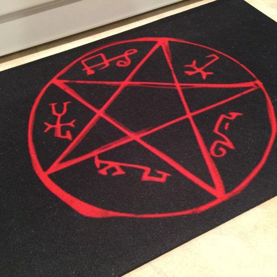 Devil Trap Rug Demon Symbol Supernatural Crowley King Of