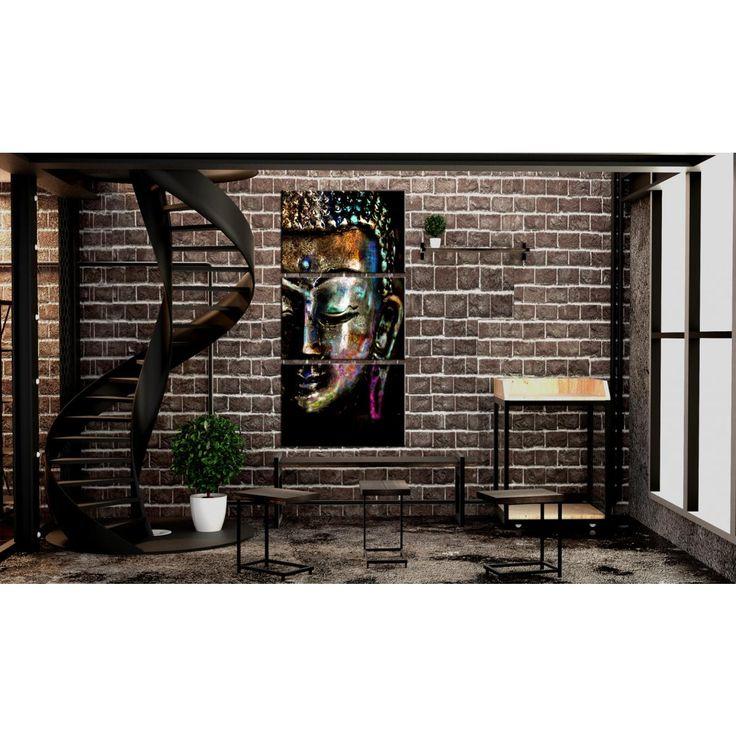 """""""Mi affascina il clima orientale combinato con lo stile industriale. Il motivo di Budda è una buona idea per dare un tocco finale a questo tipo di decorazione? Certo che sì!"""" #quadro #quadri #motivodibudda #budda #stileindustriale #orientale #zen #distile #artgeist"""