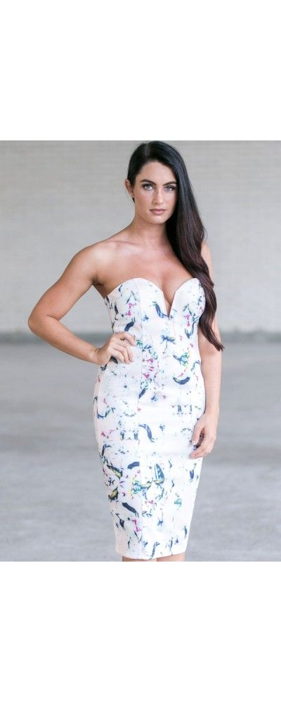 Lily Boutique Muted Floral Midi Pencil Dress, $46 Floral Print Pencil Dress, Cute Summer Pencil Dress, Floral Print Cocktail Dress www.lilyboutique.com