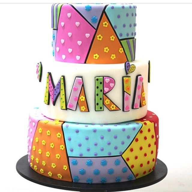 #Romero #Britto #cake #colors