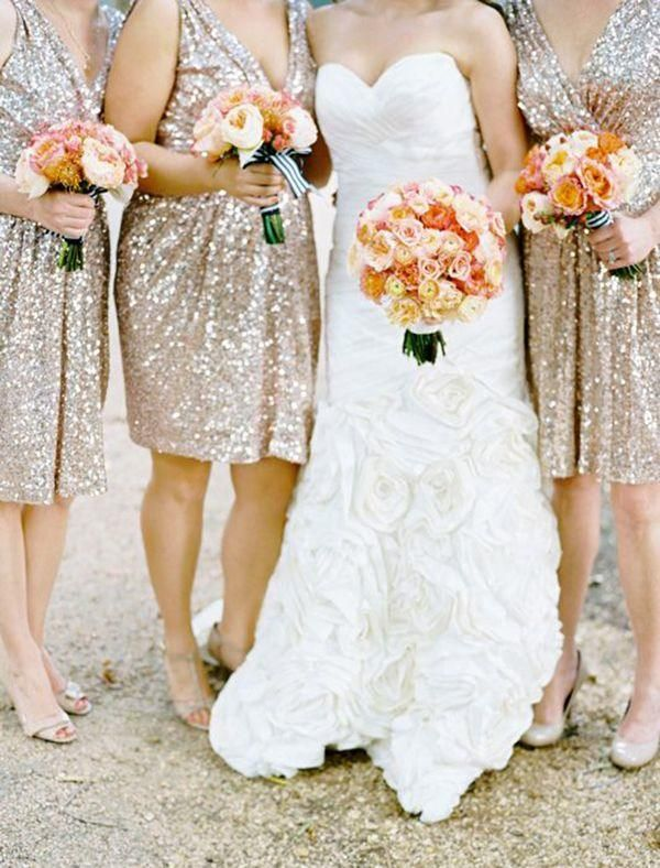 Glitz and Glam Wedding Ideas - Color Inspiration: Citrus Orange and Gold Wedding ideas - MODwedding