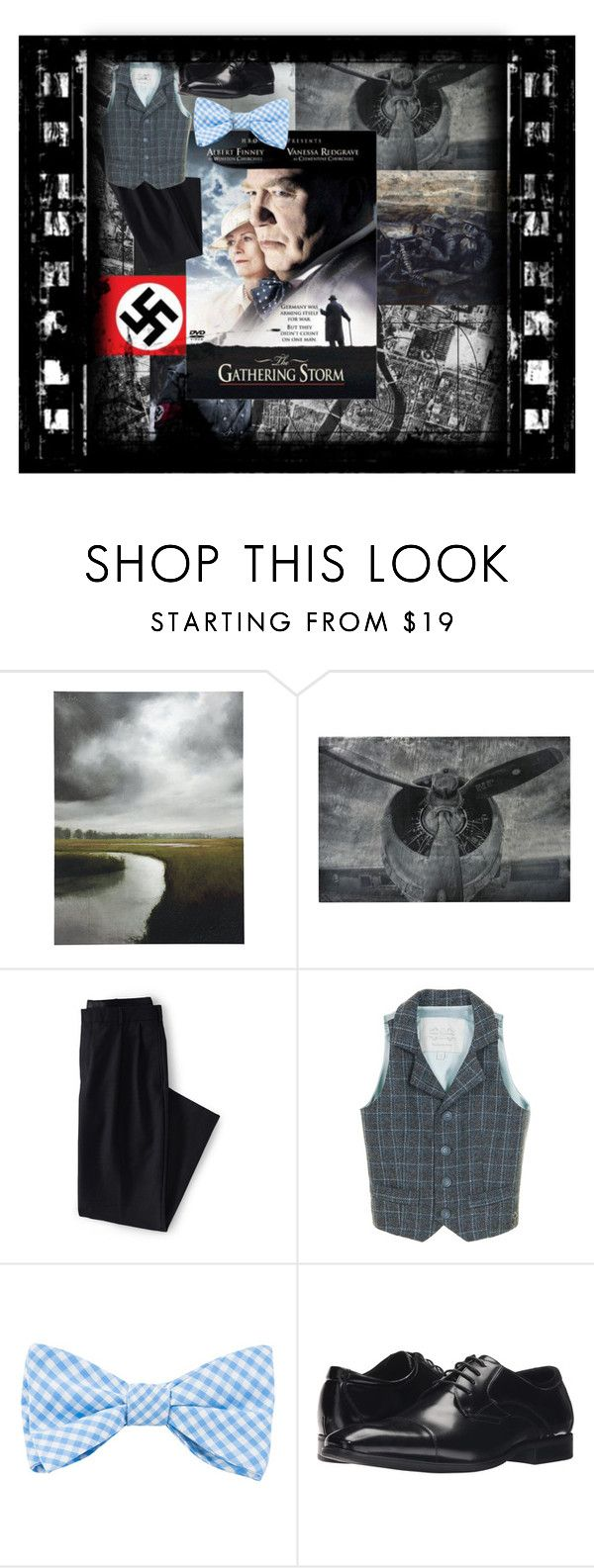 """""""The Gathering Storm"""" by elizabethshakespeare ❤ liked on Polyvore featuring Ballard Designs, Sterling, Lands' End, Little Wardrobe London, The Tie Bar and Stacy Adams"""