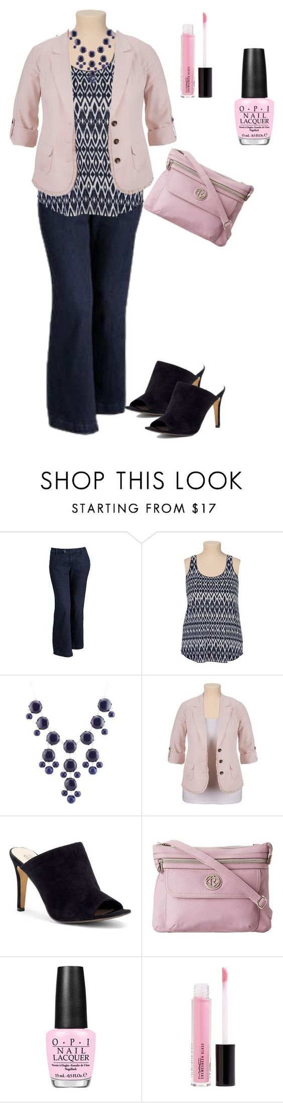 plus size outfit by penny-martin on Polyvore featuring Old Navy, Victoria's Secret, Relic, MAC Cosmetics and OPI