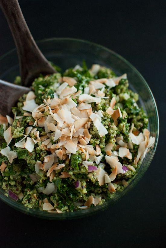 Coconut Quinoa And Kale With Tropical Pesto Recipe — Dishmaps