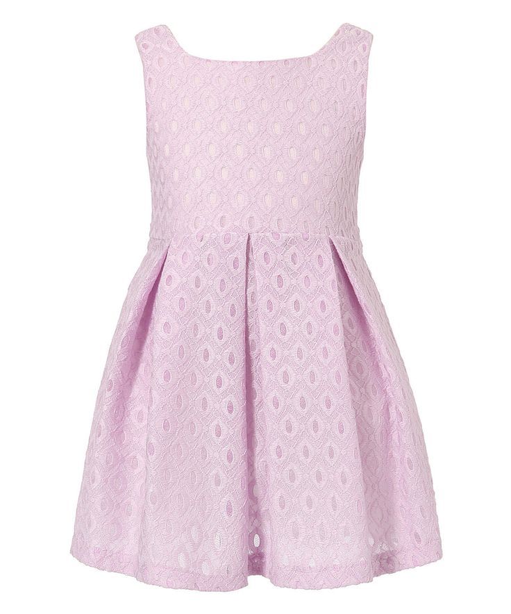 Love this Richie House Purple Lace Pleated Dress - Girls by Richie House on #zulily! #zulilyfinds