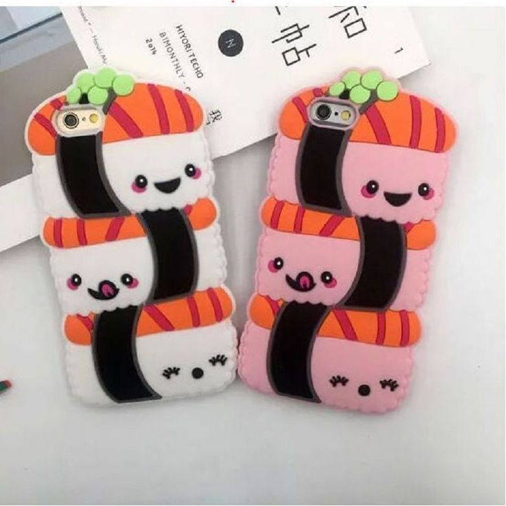Yummy Sushi Phone Case for iPhone 6 6S 6 plus 3D Soft Silicone Squishy Seal for iPhon 7 7 plus