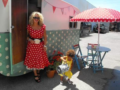 Oh I do love polka dots, especially Trelise Coopers Retro Caravan