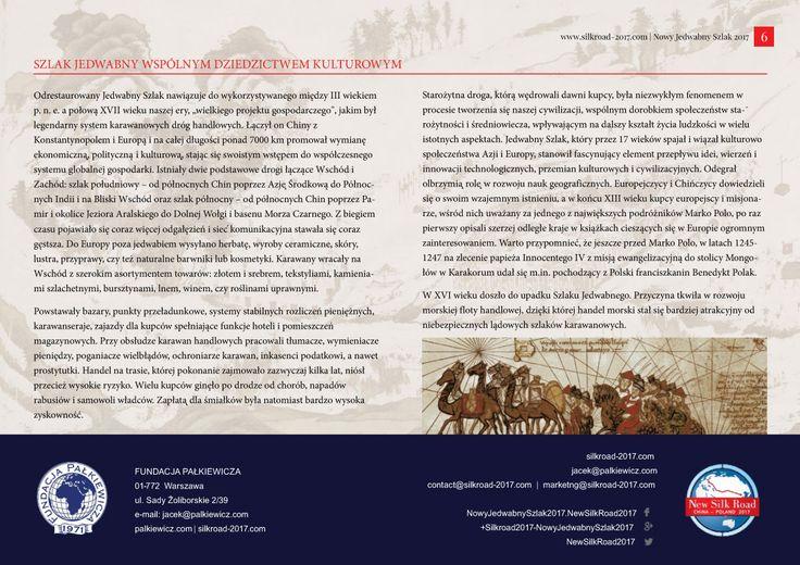 Strona 6 broszury międzynarodowej wyprawy Nowy Jedwabny Szlak 2017 - wydanie wrzesień 2016 | http://silkroad-2017.com