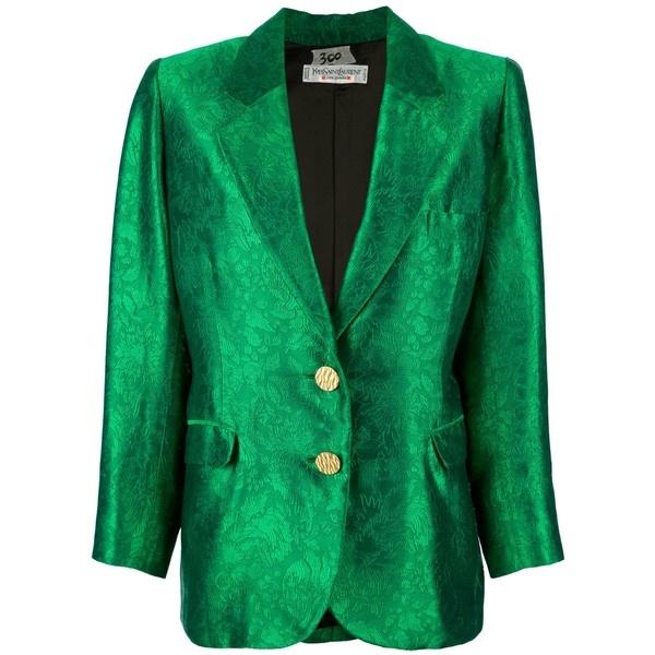 YVES SAINT LAURENT VINTAGE brocade jacket ($500) ❤ liked on Polyvore