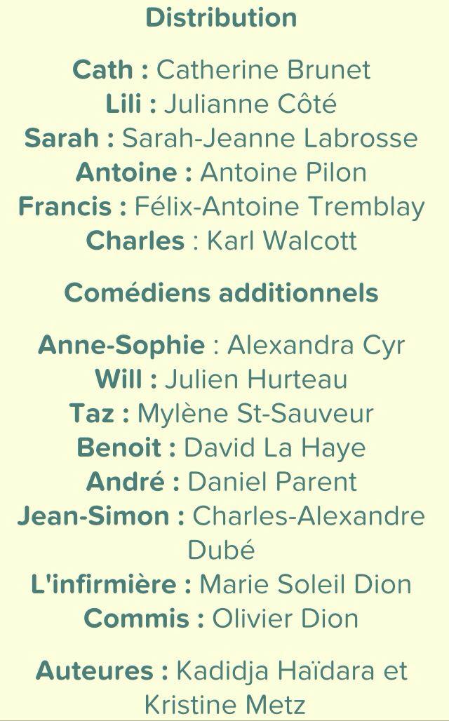 Comédiens et auteures! Le chalet, vrak.tv Félicitation!