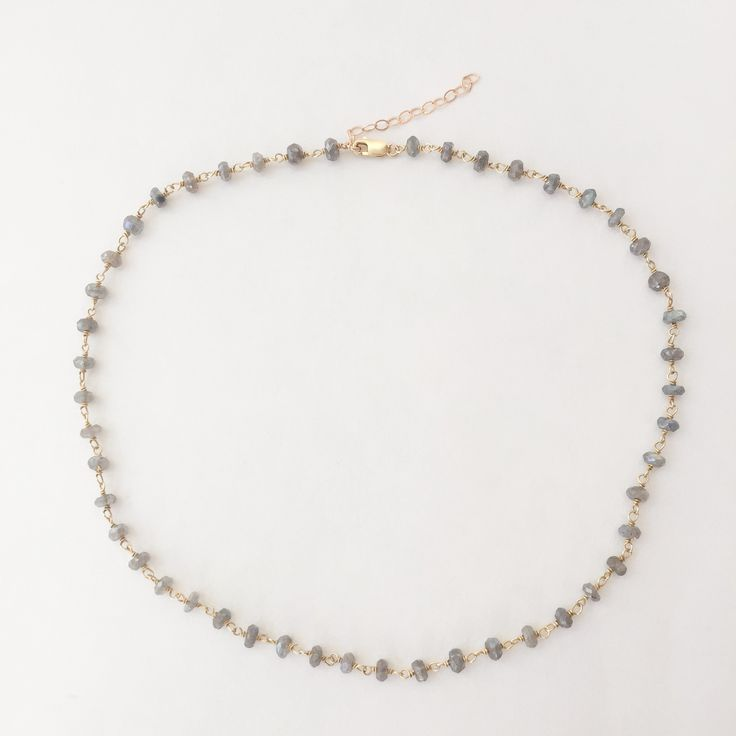 WE Fashion Labradorite Choker Necklace for Education OJ2CkUtS