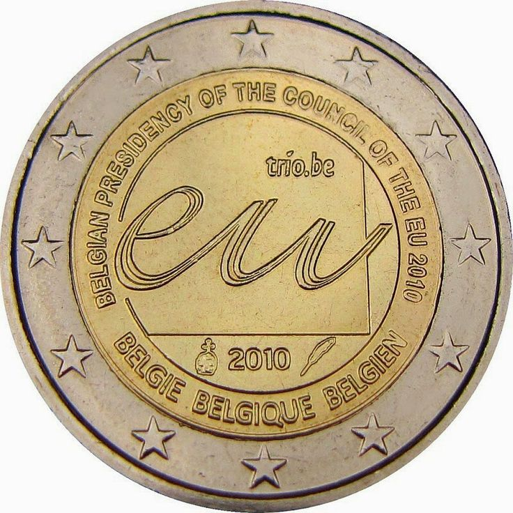 Belgian commemorative 2 euro coins - Belgian Presidency of the Council of the European Union in 2010 Commemorative 2 euro coins from Belgium