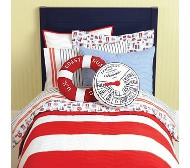 love the life preserver coast guard pillow