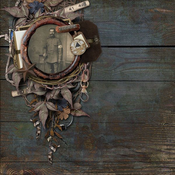 ⌼ Artistic Assemblages ⌼  Mixed Media & Collage Art - Strong by Scrappie Irene