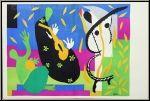 Henri Matisse: Lithographie « La Tristesse du Roi » pour Verve, 1952