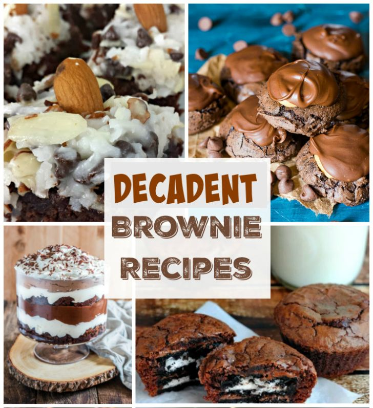 These decadent brownie desserts will make you rethink brownies forever. From a Brownie Trifle to Chocolate Coconut Mounds Bar Brownies this collection of recipes has it all.