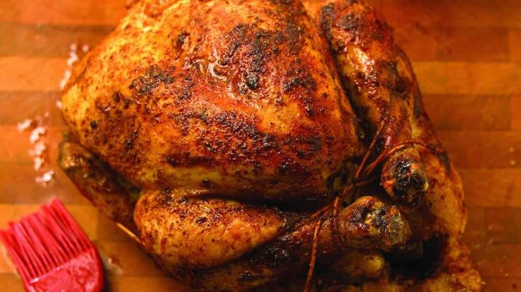 Traditional Barbecued Rotisserie Chicken
