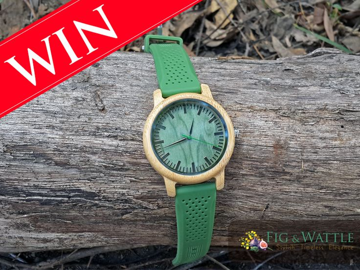 Want to win this stunning watch? Head over to our Facebook page to enter: https://www.facebook.com/pg/FigandWattle #competition #watch #eco #bamboo #win