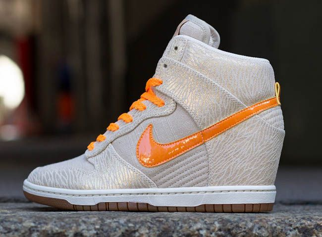 Nike WMNS Dunk Sky Hi | Gum, Birch & Bright Citrus