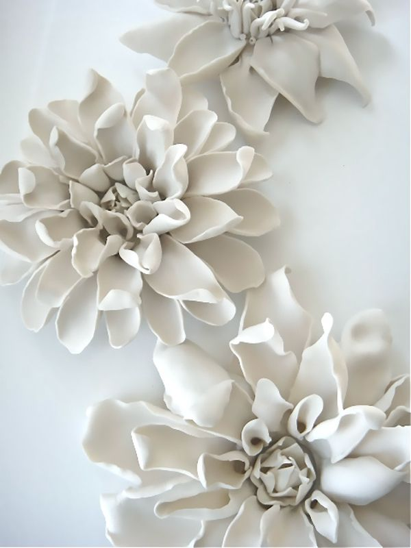 31 best porcelain artwork images on pinterest cold porcelain dshop porcelain clematis flowers for table wall or ceiling mightylinksfo