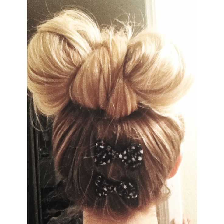 Hair in a bow