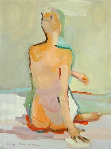 """Kate Long Stevenson. """"Figure in Landscape"""". Beautiful figurative work."""
