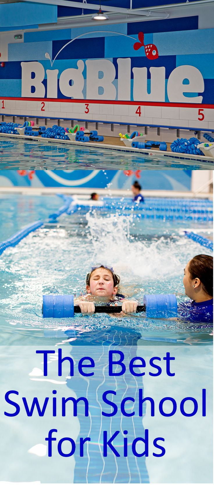 Swimming lessons for my kiddos are important, because this important life skill is with them forever! AD #BigBlueSwimSchool Come read about my daughter's awesome swim lesson at Big Blue Swim School! #swimminglessons #Swimming | https://www.tiarastantrums.com/blog/swim-lessons-and-big-blue-swim-school
