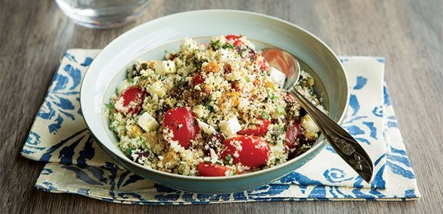 "Mediterranean Cauliflower ""Couscous"" Salad Recipe 