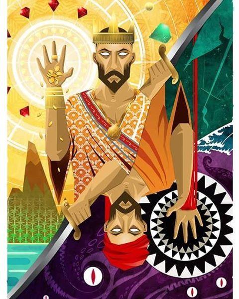 Sinbad the Sailor : tarot card #illustration #painting #drawing #colorscript #storytelling