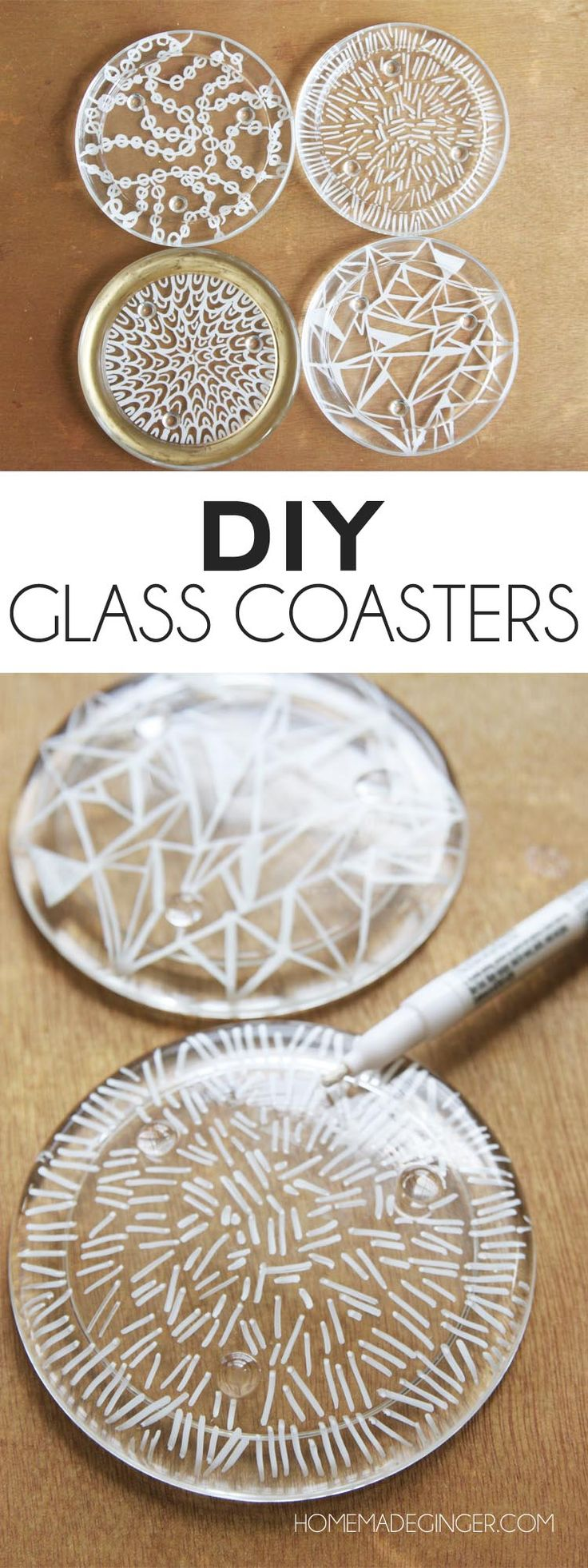 Turn glass candle plates into DIY coasters with this easy tutorial!