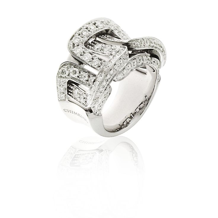 CHIMENTO Diana white gold ring with diamonds.