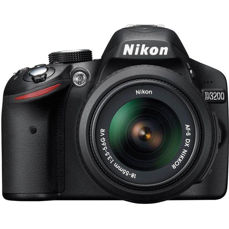 Câmera Digital Nikon D3200 Preto, 24.2 MP, LCD 3, Filma em Full HD 1080p, Estabilizador de Imagem