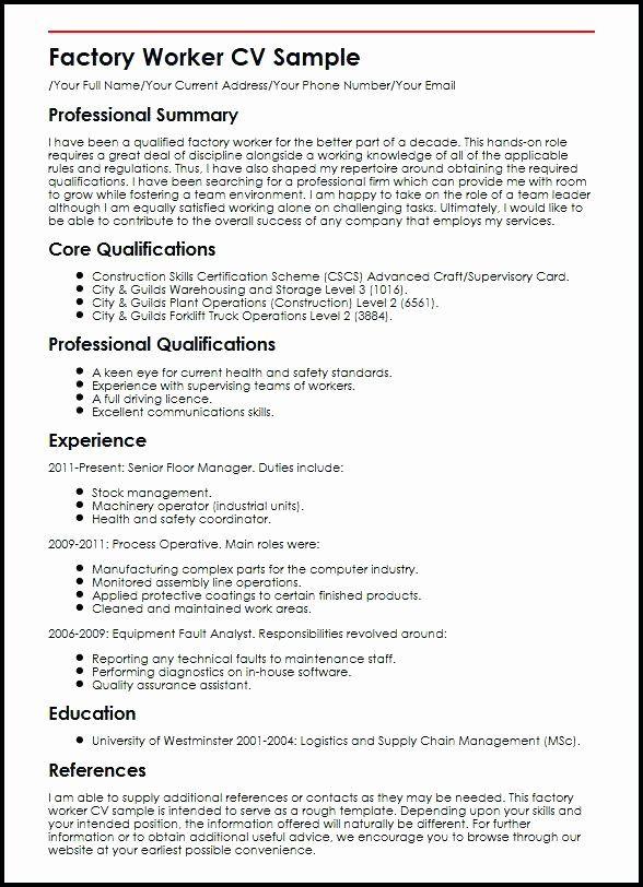 Assembly Line Worker Resume Awesome Factory Worker Job Description For Resume Job Resume Samples Line Worker Assistant Jobs