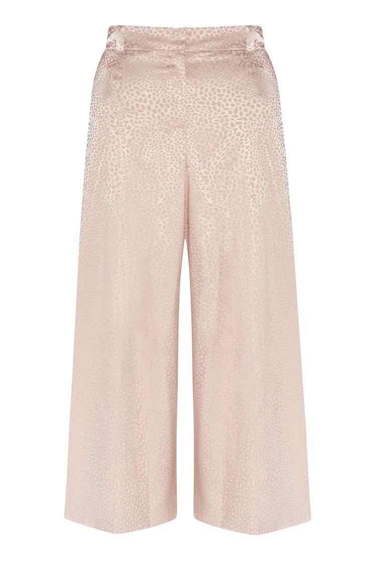 Falda pantalón rosa palo con estampado