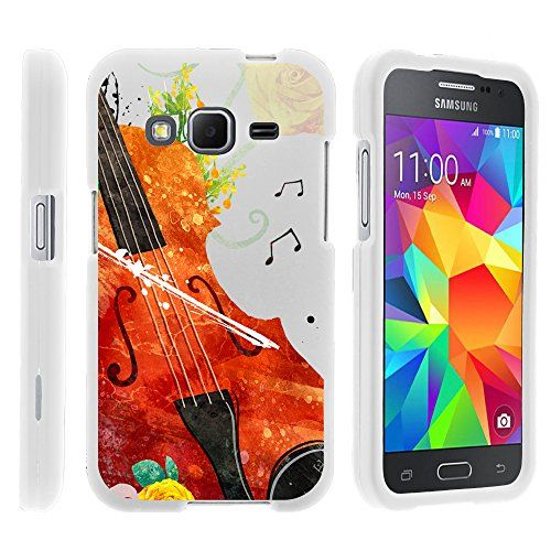 Buy Samsung Galaxy Core Prime, Hard Snap On Protective Cover with Creative Graphic Image for Samsung Galaxy Core Prime G360 (Boost Mobile) from MINITURTLE | Includes Clear Screen Protector and Stylus Pen - Violin Serenade NEW for 5 USD | Reusell