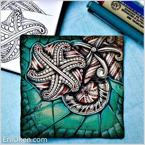 Learn to create amazing Zentangle®️ #eniokenbooks • enioken.com