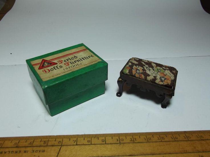PRE-WAR BOXED TRI-ANG PERIOD DOLLS FURNITURE STOOL ART DECO DOLLS HOUSE | eBay