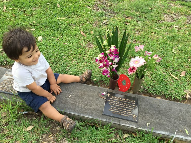 Visiting our angel Charlize