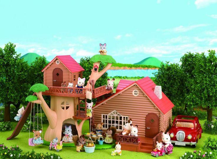 Τα σπίτια στην εξοχή των Sylvanian Families, είναι αρμονικά δεμένα με τη φύση. ♥