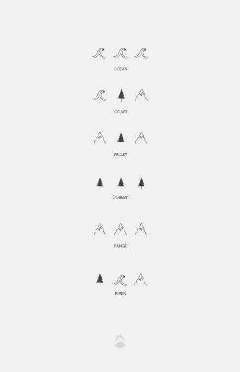 ocean, valley, forest, range, river