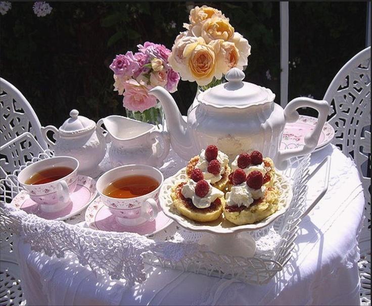 A delightful tea table.