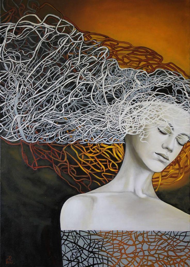 """Anna Rączka ,,The one moment for me"""" - olej na płótnie 100 x 70 cm Image"""