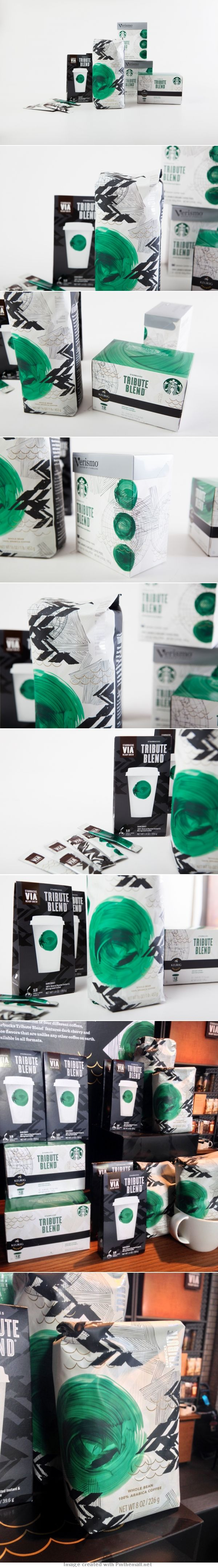 #Starbucks Tribute Blend. I'd planed to pin this fab #packaging but @MiaGrphx beat me to it : ) PD